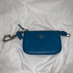 Blue Coach Wristlet